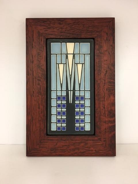 4x8 Frank Thomas House Art Glass Light Blue